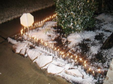 Snow on the ground December 10, 2008