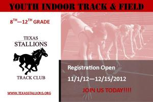 Texas Stallion Youth Track and Field Indoor Season Postcard
