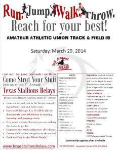 Texas Stallions Relays Flyer
